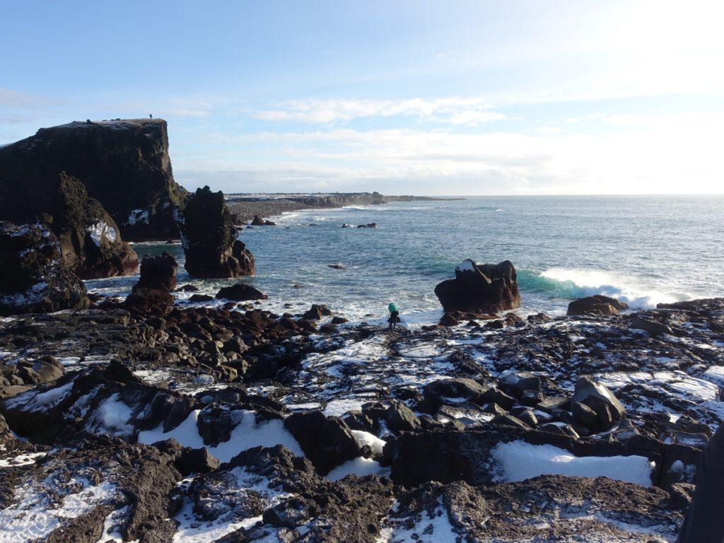 Spectacular cliffs on Reykjanes penninsula in winter. 12.02.2016