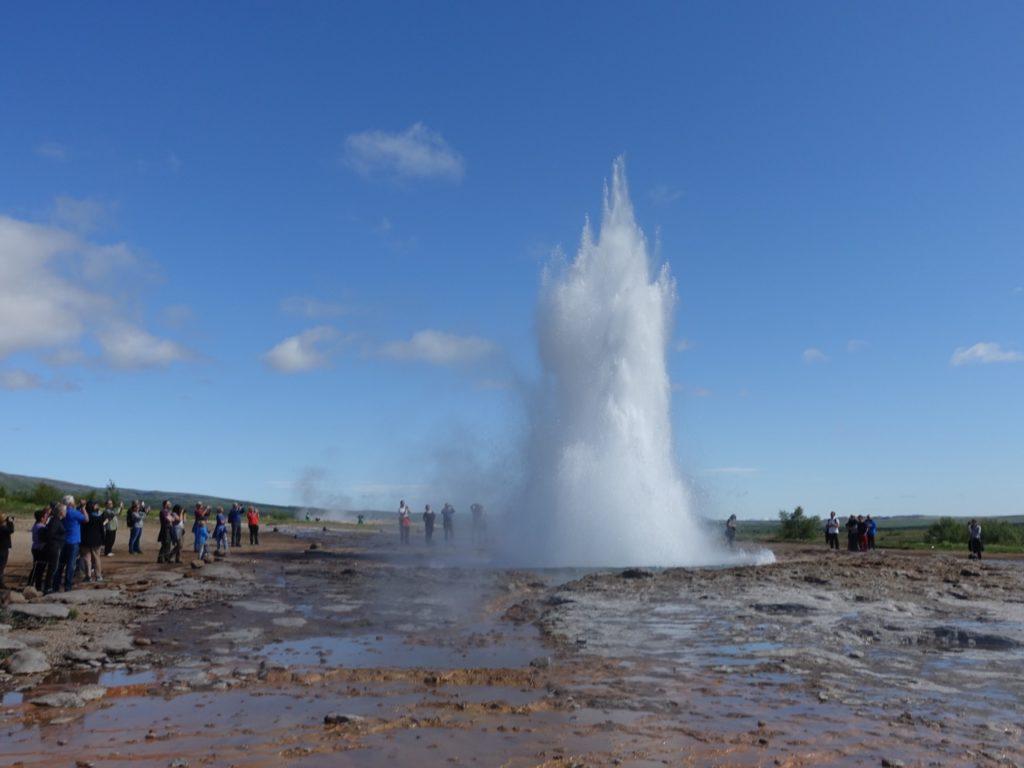 Strokkur erupting at Geysir area. 14.06.2016