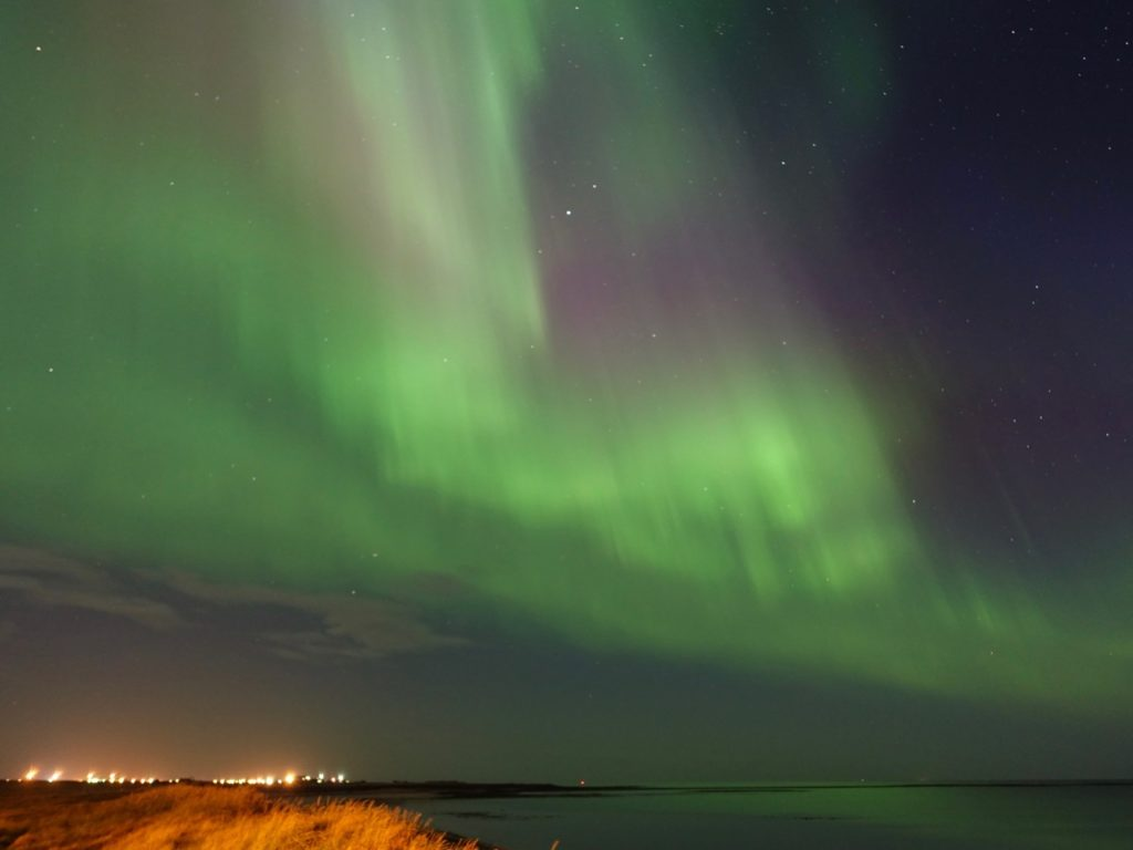 Exciting Northern Lights in Gardur. 24.08.2016