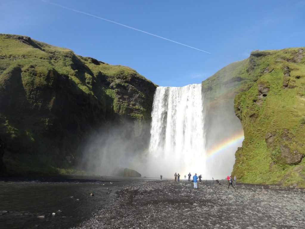 Skogafoss is one of the waterfalls at South Coast. 17.08.2014