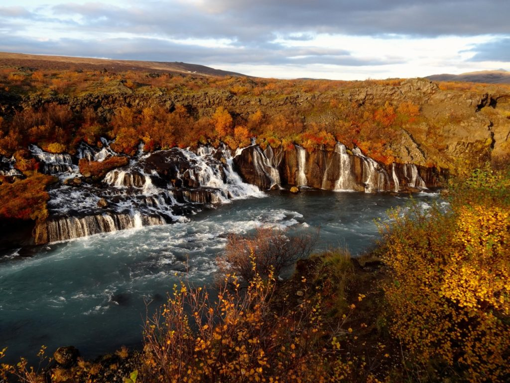 Hraunfossar means lava waterfalls, colorful in automn but beautiful all year round. 16.09.2014
