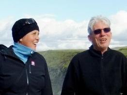 Marianne Wittwer, travel guide, and Eggert Gunnarsson, driver and guide