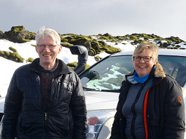 Eggert Gunnarsson, driver and travel guide; Marianne Wittwer, travel guide.