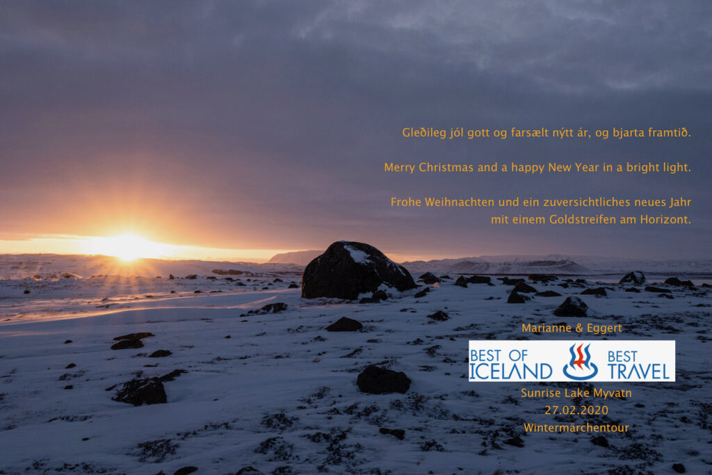 Christmas wishes 2020 of Best Travel & Best of Iceland